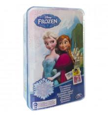 Настольная игра: домино «Ледяное сердце» (в жестяной коробке) купить в интернет магазине подарков ПраздникШоп