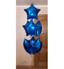 Фольгірованние зірки 18/45 см купить в интернет магазине подарков ПраздникШоп