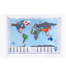 Скретч-карта DISCOVERY MAP WORLD FLAGS EDITION купить в интернет магазине подарков ПраздникШоп