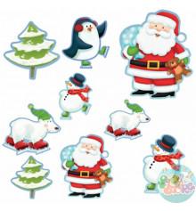 Баннер-комплект Санта и компания 12 шт купить в интернет магазине подарков ПраздникШоп