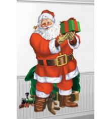 Декорация Санта с подарками 165x85см купить в интернет магазине подарков ПраздникШоп