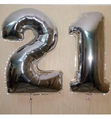 Фольгированная цифра 21 купить в интернет магазине подарков ПраздникШоп