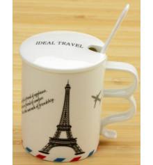 """Чашка Ideal travel """"Bonjour Paris"""" купить в интернет магазине подарков ПраздникШоп"""