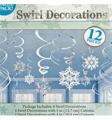 Спираль снежинки 12 шт купить в интернет магазине подарков ПраздникШоп