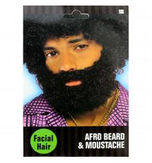 Борода с усами черная купить в интернет магазине подарков ПраздникШоп