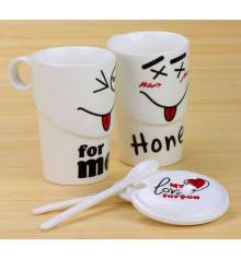 """Чашка """"Smile for love"""" купить в интернет магазине подарков ПраздникШоп"""