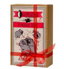 """Шоколадный набор (мопс) """"Я люблю тебя"""" купить в интернет магазине подарков ПраздникШоп"""