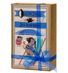 """Шоколадный набор (мопс) """"Для мужчин"""" купить в интернет магазине подарков ПраздникШоп"""