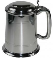 Стандартный пивной бокал (танкард) с крышкой купить в интернет магазине подарков ПраздникШоп