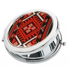 """Карманное зеркало """"Украинская вышиванка"""" купить в интернет магазине подарков ПраздникШоп"""