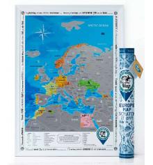 Скретч-карта европы Discovery Map of Europe на английском языке купить в интернет магазине подарков ПраздникШоп