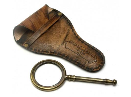 Лупа бронзовая в кожаном чехле купить в интернет магазине подарков ПраздникШоп