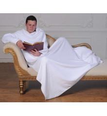 Плед с рукавами из микрофибры (белый) купить в интернет магазине подарков ПраздникШоп