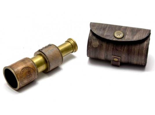 Подзорная труба в кожаном футляре (12 см) купить в интернет магазине подарков ПраздникШоп