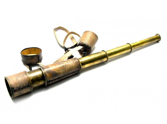 Подзорная труба в кожаном футляре (48 см) купить в интернет магазине подарков ПраздникШоп