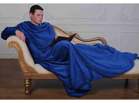 Плед с рукавами из микрофибры (синий) купить в интернет магазине подарков ПраздникШоп