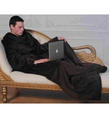 Плед с рукавами из микрофибры (коричневый) купить в интернет магазине подарков ПраздникШоп