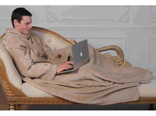 Плед с рукавами из микрофибры (бежевый) купить в интернет магазине подарков ПраздникШоп