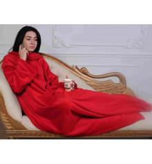 Плед с рукавами из микрофибры (красный) купить в интернет магазине подарков ПраздникШоп