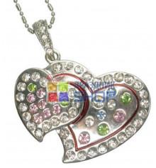 """Флешка """"Два сердца"""" (водонепроницаемая) купить в интернет магазине подарков ПраздникШоп"""