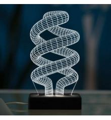 """3D светильник """"Спираль"""" купить в интернет магазине подарков ПраздникШоп"""