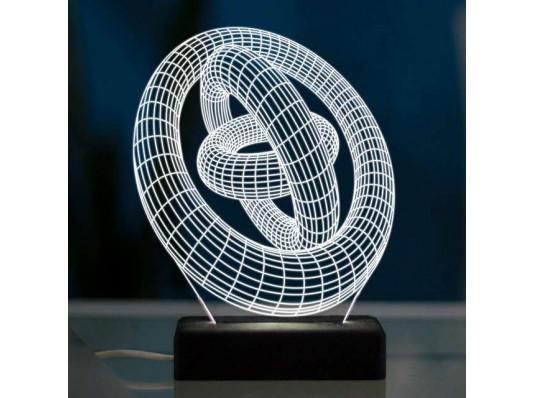 """3D светильник """"Кольца"""" купить в интернет магазине подарков ПраздникШоп"""