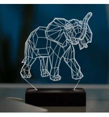 """3D светильник """"Слон"""" купить в интернет магазине подарков ПраздникШоп"""
