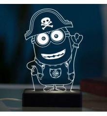 """3D светильник """"Миньон"""" купить в интернет магазине подарков ПраздникШоп"""