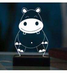 """3D светильник """"Бегемот"""" купить в интернет магазине подарков ПраздникШоп"""