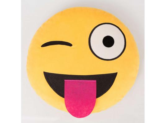 """Подушка """"Смайл-язык"""" купить в интернет магазине подарков ПраздникШоп"""
