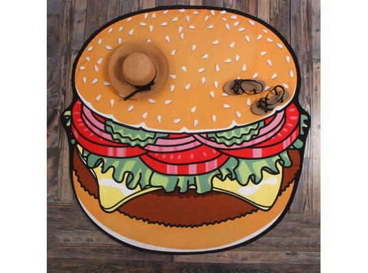 """Пляжный коврик """"Гамбургер"""" купить в интернет магазине подарков ПраздникШоп"""