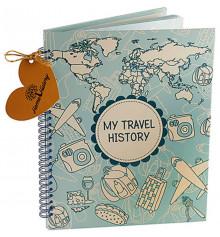 """Фотоальбом """"Travel History"""" купить в интернет магазине подарков ПраздникШоп"""