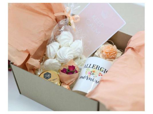 """Подарочный набор """"Allergic to morning"""" купить в интернет магазине подарков ПраздникШоп"""