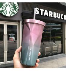 """Стакан с крышкой и трубочкой """"Starbucks"""", 4 цвета купить в интернет магазине подарков ПраздникШоп"""