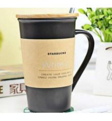 """Керамическая Чашка """"Starbucks"""" с маркером купить в интернет магазине подарков ПраздникШоп"""