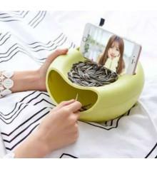 Миска для семечек, фруктов с подставкой, 2 цвета купить в интернет магазине подарков ПраздникШоп