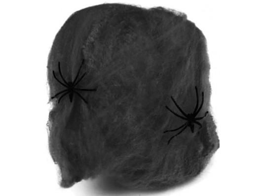 Черная паутина с двумя пауками купить в интернет магазине подарков ПраздникШоп