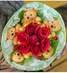 """Букет из мягких игрушек """"Свежесть"""" купить в интернет магазине подарков ПраздникШоп"""