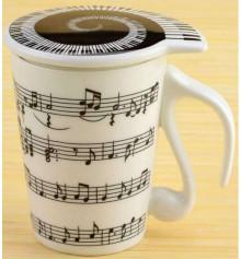 """Чашка """"music"""" с крышкой купить в интернет магазине подарков ПраздникШоп"""