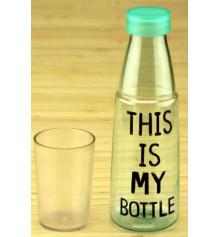 """Бутылка со стаканом """"MY BOTTLE"""" купить в интернет магазине подарков ПраздникШоп"""