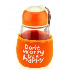"""Бутылка с чехлом """"Don't worry,be happy"""" купить в интернет магазине подарков ПраздникШоп"""