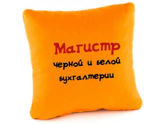 Подушка «Магистр черной и белой бухгалтерии», 4 цвета купить в интернет магазине подарков ПраздникШоп