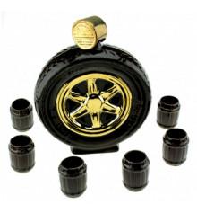 """Коньячный набор """"Авто колесо"""" купить в интернет магазине подарков ПраздникШоп"""