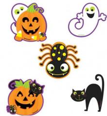 Баннер мини персонажи Хэллоуин 10шт купить в интернет магазине подарков ПраздникШоп