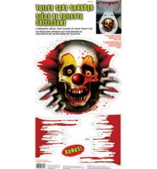 """Наклейка на крышку унитаза """"Клоун"""" купить в интернет магазине подарков ПраздникШоп"""