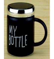 """Кружка с крышкой """"My bottle"""", 2 цвета купить в интернет магазине подарков ПраздникШоп"""