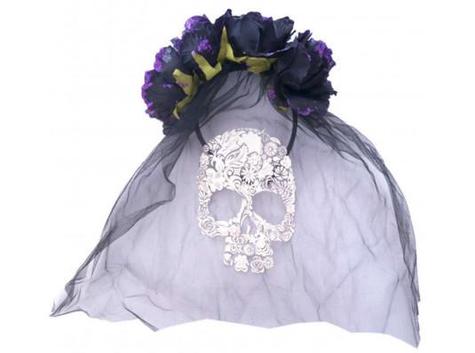 Черная фата на Хэллоуин купить в интернет магазине подарков ПраздникШоп