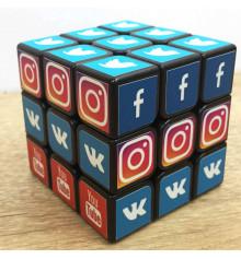 """Кубик 3 x 3 """"SOCIAL NETWORK"""" купить в интернет магазине подарков ПраздникШоп"""