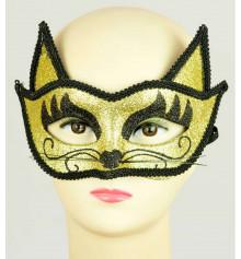 """Венецианская маска """"Кошка"""" (золото) купить в интернет магазине подарков ПраздникШоп"""