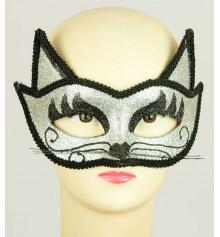 """Венецианская маска """"Кошка"""" (серебро) купить в интернет магазине подарков ПраздникШоп"""